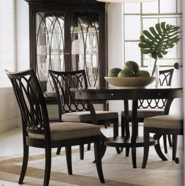 Transitional Dining Room Furniture: Dining Room Furniture By Marge Carson, Replica, Stanley