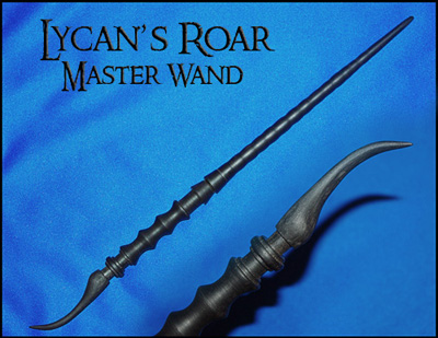 Kurth works custom hand carved magic wizard wands and staffs for The master wand