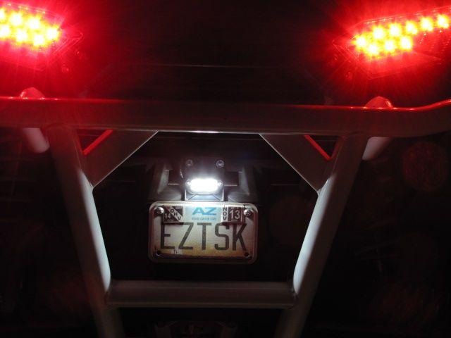 Led License Plate Bracket For Polaris Ranger Xp Rzr Crew